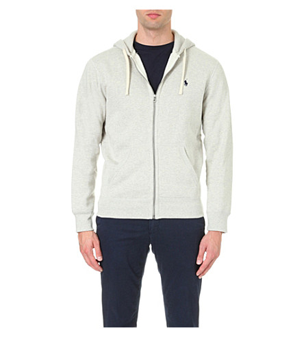 POLO RALPH LAUREN Zip-up cotton-blend hoody (Light+sport+heather