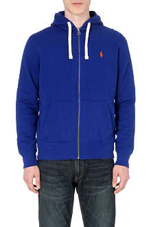 RALPH LAUREN Logo-detailed zip-up hoody