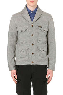 RALPH LAUREN Shawl-collar four-pocket knitted cardigan
