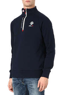 RALPH LAUREN Fleece mockneck sweatshirt