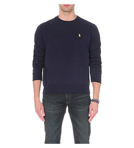 POLO RALPH LAUREN Crew-neck jersey sweatshirt (Cruise+navy