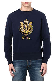 RALPH LAUREN Crest fleece crew-neck sweatshirt