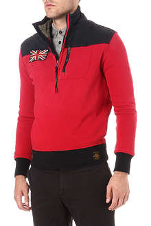 RALPH LAUREN Half-zip quilted-panel jumper