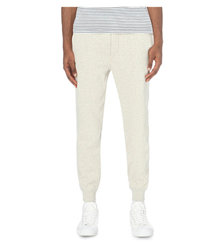 POLO RALPH LAUREN Logo cuffed cotton-blend jogging bottoms (Beige