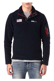 RALPH LAUREN Fleece half-zip long-sleeve top
