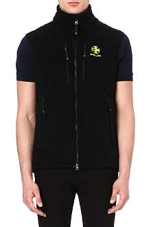 RALPH LAUREN Embroidered fleece gilet