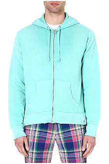 RALPH LAUREN Stretch-cotton zip-through hoody
