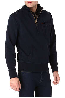 RALPH LAUREN Half-zip pocket sweatshirt
