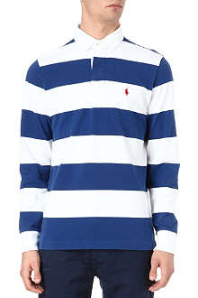 RALPH LAUREN Striped cotton polo shirt