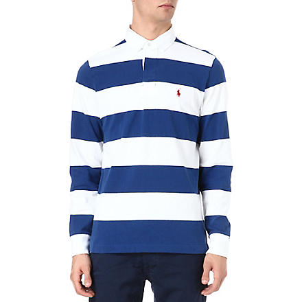 RALPH LAUREN Striped cotton polo shirt (Embassy blue/cl
