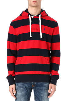 RALPH LAUREN Hooded rugby sweatshirt