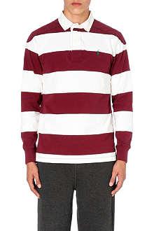 RALPH LAUREN Striped jersey rugby top