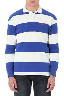 RALPH LAUREN Striped jersey rugby top