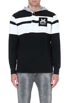 RALPH LAUREN Striped rugby hoody