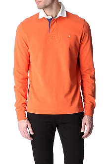 RALPH LAUREN Custom-fit contrast-colour rugby top