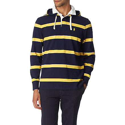 RALPH LAUREN Striped rugby hoody (Cruise navy/sai