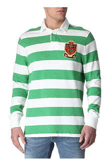 RALPH LAUREN Striped custom-fit Rugby shirt