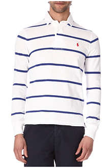 RALPH LAUREN Stripe slim-fit rugby top