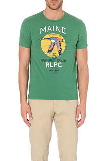 RALPH LAUREN Maine bird-print custom-fit t-shirt