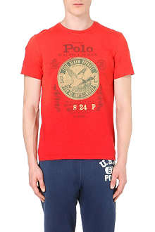 RALPH LAUREN Printed custom-fit cotton-jersey t-shirt
