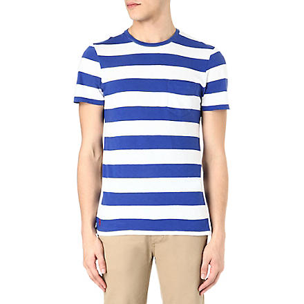 RALPH LAUREN Striped cotton t-shirt (Cruise royal/cl