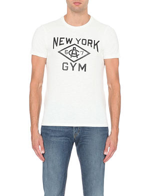 RALPH LAUREN Printed cotton-jersey t-shirt