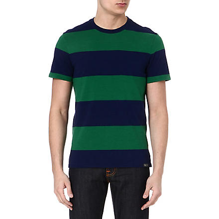RALPH LAUREN Striped cotton t-shirt (Athletic green/