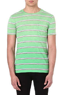 RALPH LAUREN Stripe pocket t-shirt