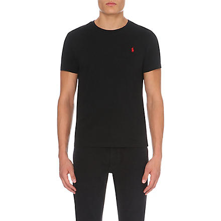 RALPH LAUREN Custom–fit t–shirt (Black