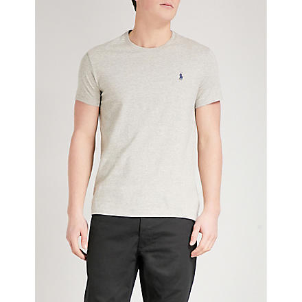 RALPH LAUREN Custom–fit t–shirt (Nw grey heather