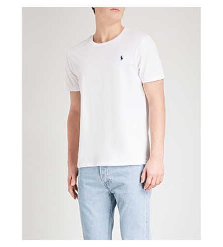 RALPH LAUREN Custom–fit t–shirt (White