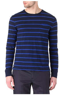 RALPH LAUREN Custom-fit striped top