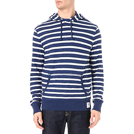 RALPH LAUREN Striped hoody (Luxury blue/nev