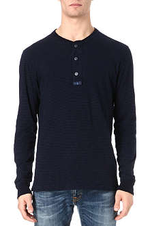 RALPH LAUREN Striped henley top