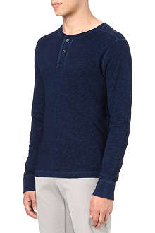 RALPH LAUREN Long-sleeve cotton Henley shirt