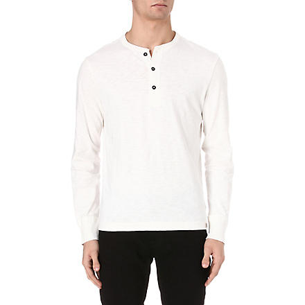RALPH LAUREN Henley cotton top (Nevis