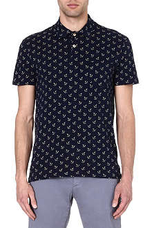 RALPH LAUREN Anchor-print cotton polo shirt