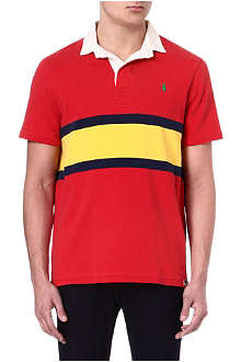 RALPH LAUREN Custom-fit colourblocked polo shirt