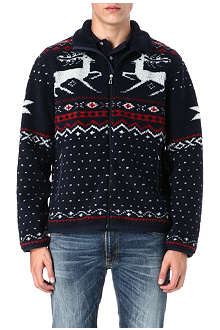 RALPH LAUREN Patterned fleece jacket