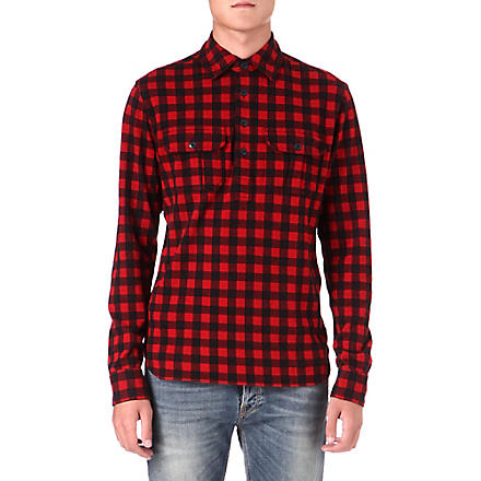 RALPH LAUREN Checked work shirt (Franklin red/po