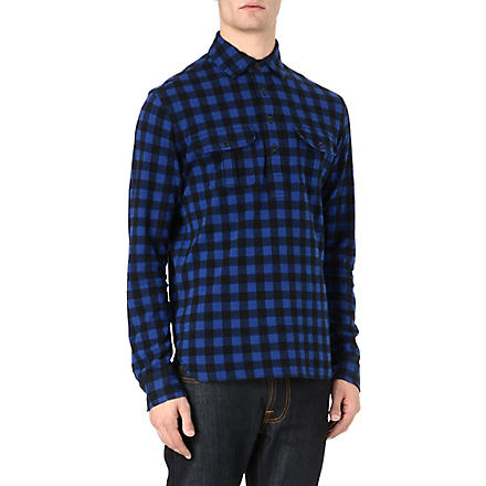 RALPH LAUREN Checked work shirt (Royal+american/
