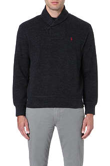 RALPH LAUREN Shawl-collar cotton jumper