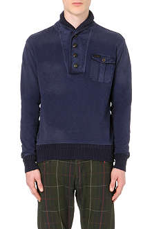 RALPH LAUREN French-terry hunting jumper
