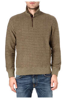RALPH LAUREN Long-sleeved windowpane top