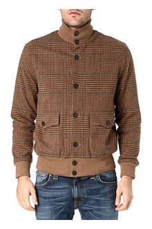 RALPH LAUREN Long-sleeved knitted plaid jacket