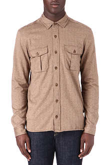 RALPH LAUREN Herringbone cotton shirt