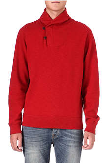 RALPH LAUREN Shawl collar sweatshirt