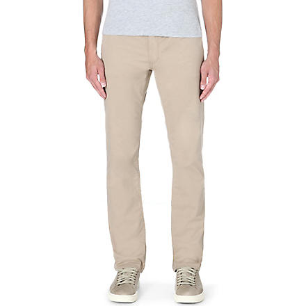 RALPH LAUREN Slim-fit straight jeans (Boating khaki (