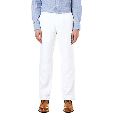 RALPH LAUREN Officer's classic-fit trousers (White
