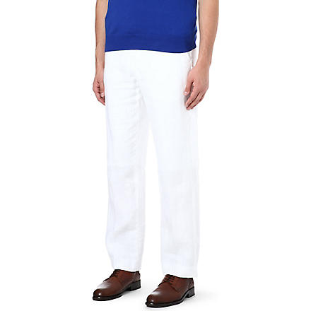 RALPH LAUREN Briton classic-fit trousers (White